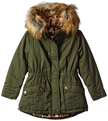 Urban Republic Toddler Girls Cotton Twill Jacket, Olive, 3T
