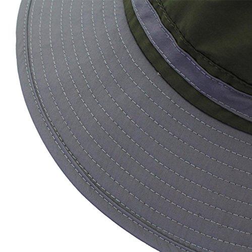Aivtalk Outdoor Sun Hats Boonie Fishing Anti-UV 360°Solar Protection ... 57be05686606