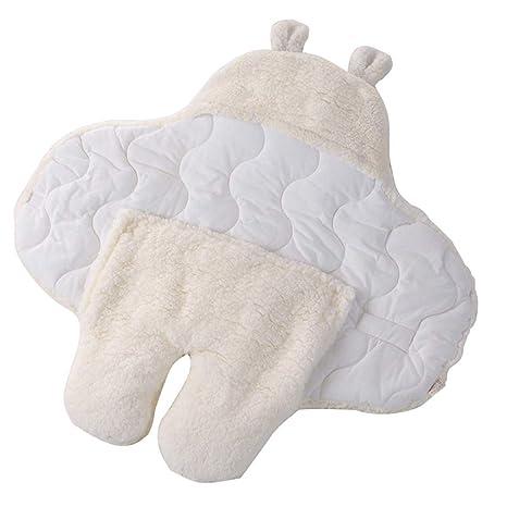 Saco de dormir para bebé, cachemir de cordero, patas de otoño e invierno,