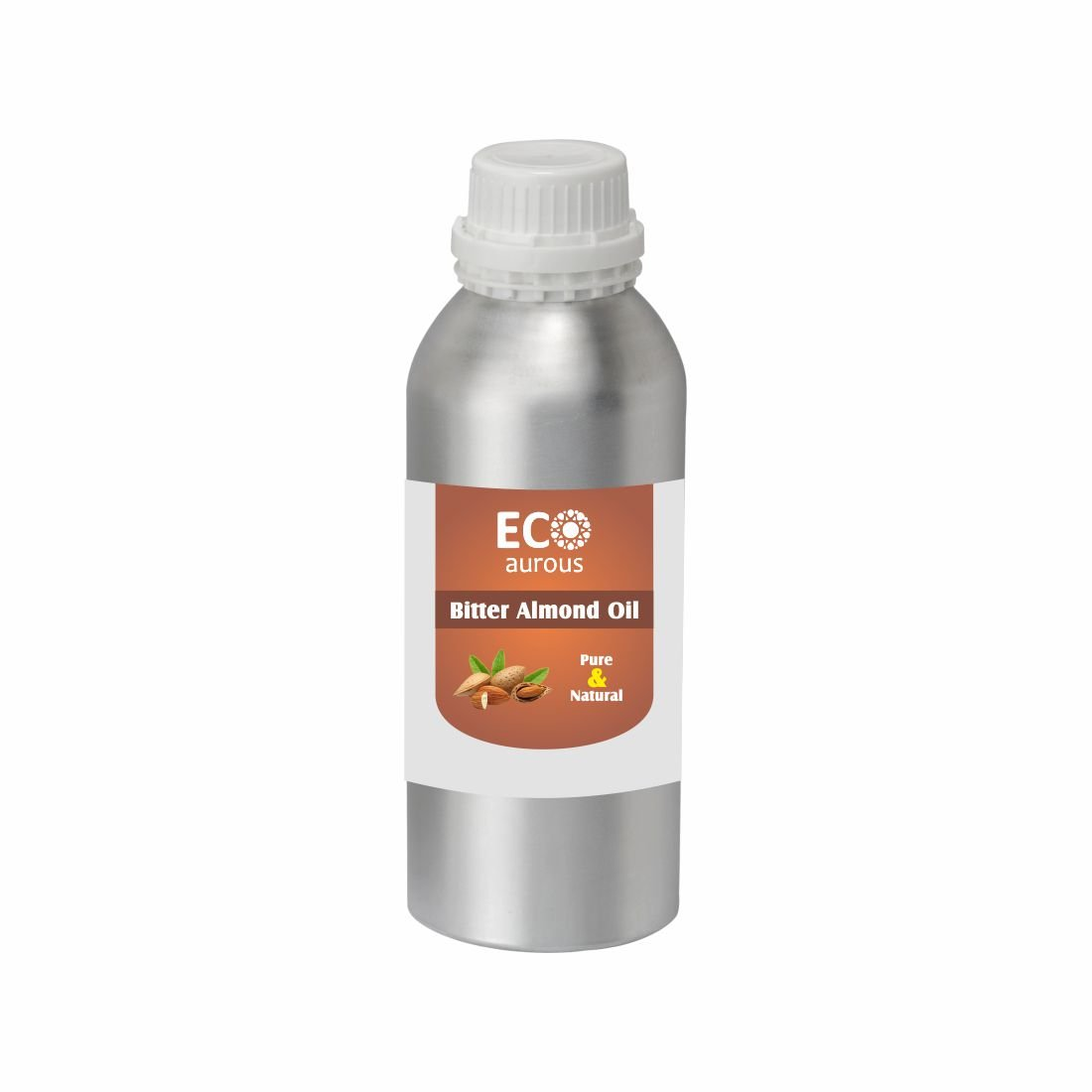 Bitter Almond Oil | 100% Natural Essential Oil | Bitter Almond Oil For Skin, Hair, Dark Circles| Bitter Almond Essential Oil By ECO AUROUS. (100ml (3.38oz)) Tosc International Pvt Ltd