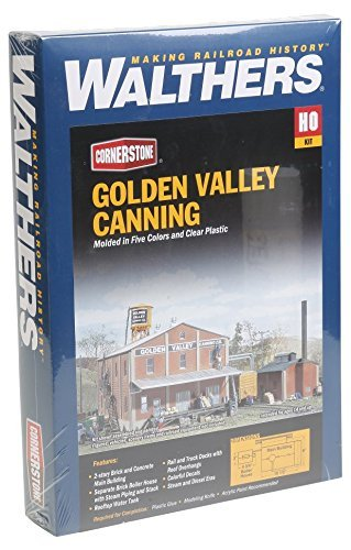 Walthers Cornerstone HO Scale Golden Valley Canning Company Structure Kit [並行輸入品] B0165SUMRG