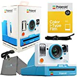 Polaroid OneStep 2 Viewfinder i-Type Camera 9016 Summer Blue Bundle with a Color i-Type Film Pack 4668 (8 Instant Photos) and a Lumintrail Cleaning Cloth