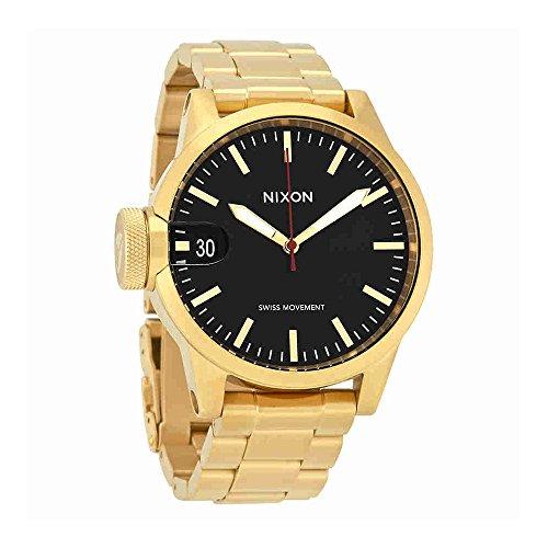 Nixon-Mens-A441510-Chronicle-44-Analog-Display-Swiss-Quartz-Gold-Watch