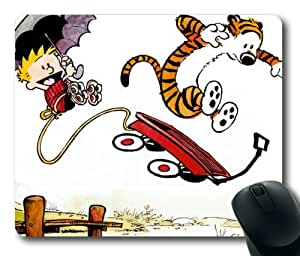 Calvin And Hobbes Mouse Pad/Mouse Mat Rectangle by ieasycenter by runtopwell