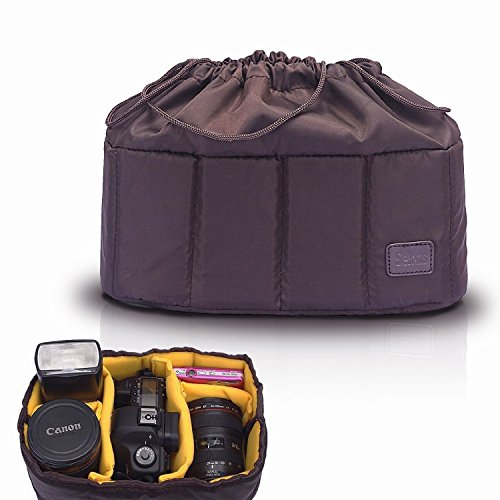 Selens High-Capacity Shockproof DSLR SLR Camera Padded Bag Case Partition Camera Insert, Make Your Own Camera Bag (Inserts Foam Case Camera)