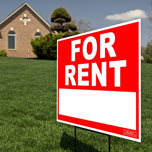 large 24 x 18 home for rent yard sign lawn signage ground