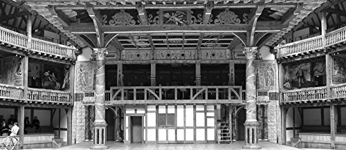 Interiors of a stage theater, Globe Theatre, London, England Poster Print (6 x 15) (Globe Theater Poster)