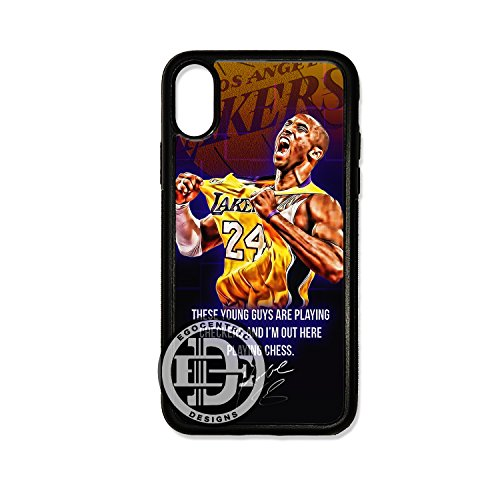- (iPhone Xs) EGOCENTRIC DESIGN & CO. Famous Lakers Basketball Legend #24 Fan Art TPU Rubber Silicone Phone Case