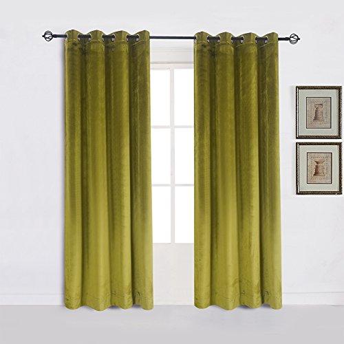 Green Velvet Curtains Amazon