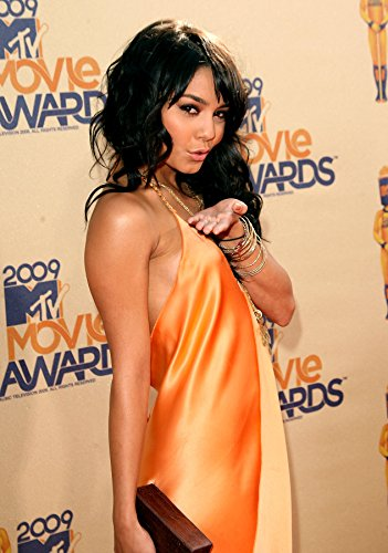 Vanessa Hudgens Silk Beige Sexy Dress Mid at Event Photo (8 inch by 10 inch) PHOTOGRAPH TL