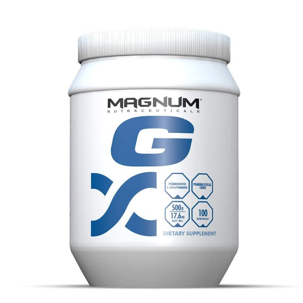 Magnum Nutraceuticals L-Glutamine - 100 Servings - Amino Acid - Immune System Support - Build & Repair Lean Muscle - Improve Blood Flow