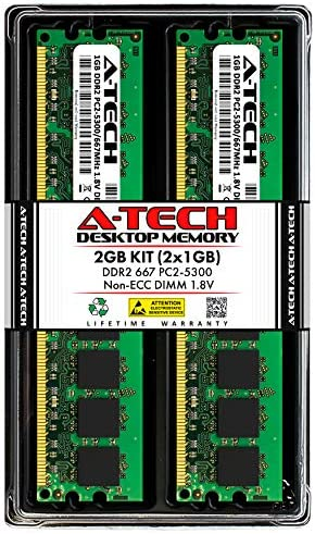 2GB Memory for ASUS M2 Motherboard M2N68-AM DDR2 PC2-5300 667MHz DIMM Non-ECC RAM Upgrade PARTS-QUICK Brand