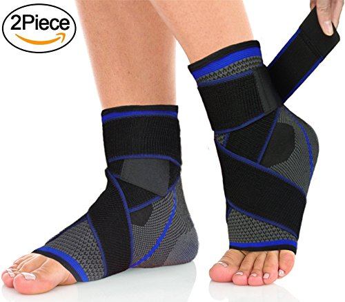 Plantar Fasciitis Compression Sock, Sport Ankle Brace & Achilles Tendon Sleeve with...
