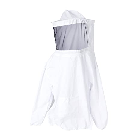 Chaqueta Traje de Apicultura Profesional Velo Protector de Abeja Blanco