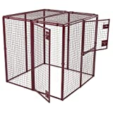 Exotic Bird Cage - Animal House Large Ultra Heavy Duty Outdoor Protective Kennel (7.5' Hx10'Lx5'W) 244.2 lbs