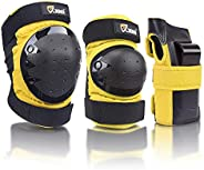JBM Sports Protective Gear Safety pad Safeguard (Knee Elbow Wrist) Support Pad Set Equipment for Adult Roller