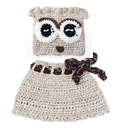 Sumolux Girls Kids Warm Owl Hats and Scarf Set Knitted Coif Hood/Shawl Beanies for Winter by Sumolux (Image #7)