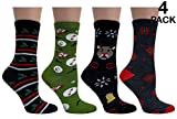 "Women's Fun and Colorful ""Holiday"" Crew Sock, ,Xmas ( Christmas#3)"