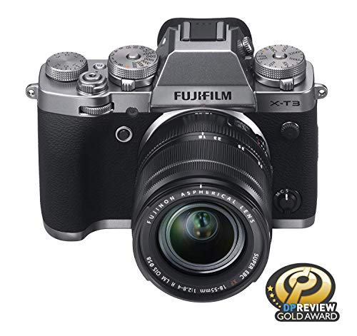 """Fujifilm X-T3 26.1 MP Mirrorless Camera with XF 18-55 mm Lens (APS-C X-Trans CMOS 4 Sensor, X-Processor 4, EVF, 3"""" Tilt Touchscreen, Fast & Accurate AF, Face/Eye AF, 4K/60P Video) - Silver 6"""