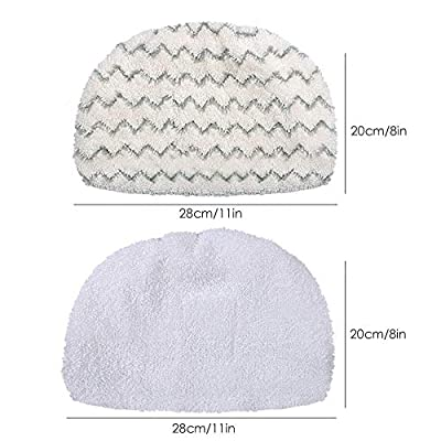 KEEPOW 6 Pack Washable Steam Mop Pads Replacement for Bissell Powerfresh 1940 1544 1440 Series Steam Mop, Model 1544A, 2075A, 1806, 5938, 1940W, 19404, 1940A