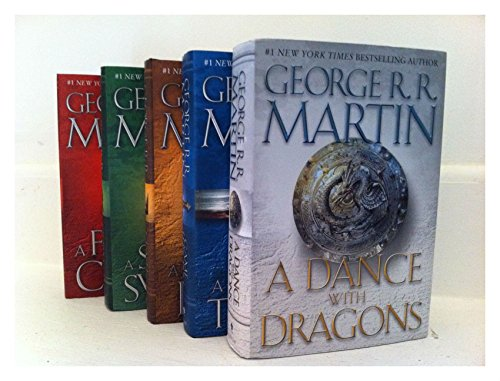 Brand New Set 1-5 Game of Thrones Series Hardcover Collection Set (Game Of Thrones Box Set 1 7)