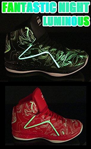 Weweya Herren Basketball Schuhe Sneakers Ausbildung Outdoor Turnschuhe Rot1