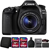 Canon EOS 80D 24.2MP Digital SLR Camera with 18-55mm Lens and Accessories