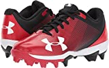 under armour baseball shoes - Under Armour Boys' Leadoff Low Jr. RM Baseball Shoe, Black (061)/Red, 4