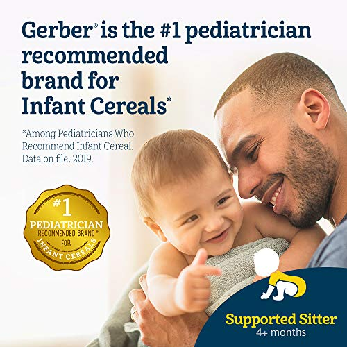 51VlgVkfYVL - Gerber Baby Cereal DHA & Probiotic Oatmeal Baby Cereal, 8 Ounces (Pack Of 6)
