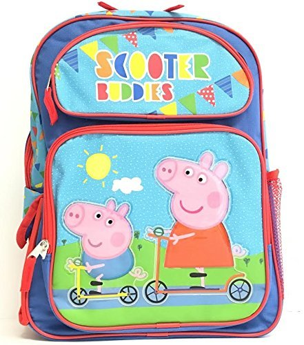 Peppa Pig Scooter Buddies 16'' Large Backpack