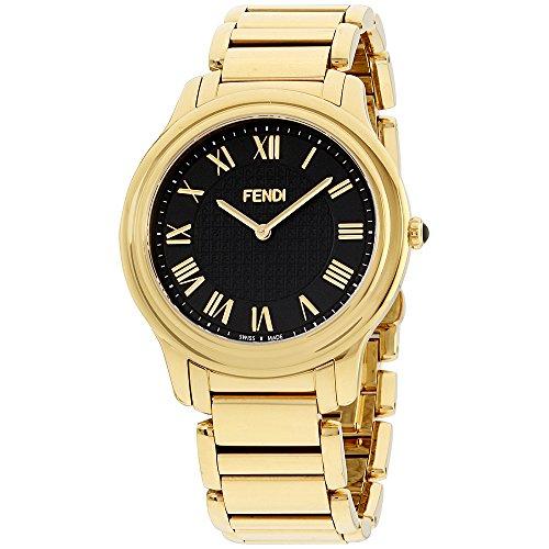 Fendi Mens black dial, stainless-steel bracelet watch F251411000XG (Certified - Men Fendi Watches