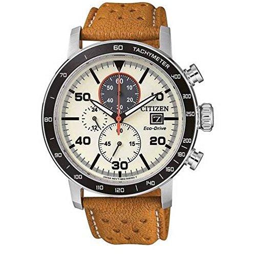 Citizen Reloj Cronógrafo para Hombre de Cuarzo con Correa en Cuero CA0641-16X: Amazon.es: Relojes