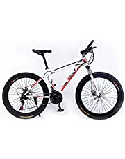 New Speed 26 Inches Roadbike, Freeride Bike,Saiguan shifter,21 Speeds Gears Bike, Adjustable Seat with Dual Disc Brakes, Front Shock Absorber and 30mm Alloy rim PVC Pedals.