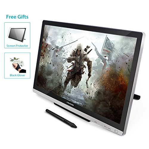 HUION GT-220 V2 Silver Pen Display 21.5 Inch IPS Graphics Drawing Tablet...