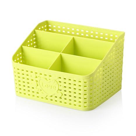 Caja de almacenamiento de cosméticos/ desorden de escritorio cajas de ordenación/ caja de almacenamiento