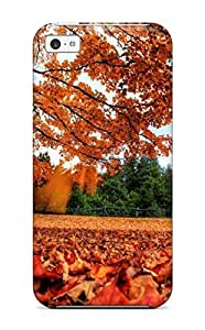 Hot New Autumn Feeling Leaves Orange Red Trees Fall Nature Autumn Case Cover For Iphone 5c With Perfect Design