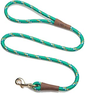 product image for Mendota Pet Snap Leash - British-Style Braided Dog Lead, Made in The USA - Kelly Confetti, 1/2 in x 6 ft - for Large Breeds