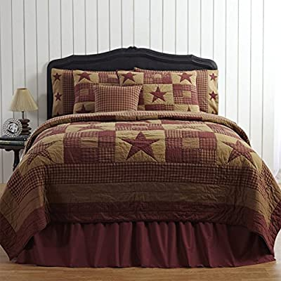 Ninepatch Star Quilt by VHC Brands