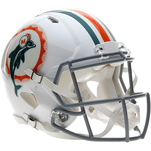 Miami Dolphins Deluxe Helmet (Miami Dolphins 1966 Tribute Officially Licensed Speed Authentic Football Helmet)