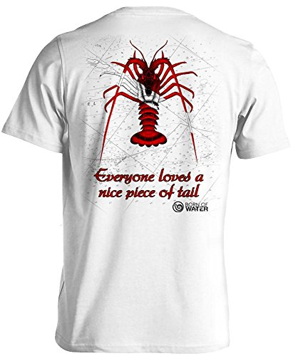 Born of Water Lobster Scuba Diving Shirt: Freedive | Dive | Spearfish - White - M