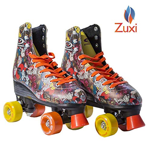 Quad Roller Skates for Girls/Kid's Toddler with High Top Shoe Style for Indoor/Outdoor Skating | Durable, Easy to Skate, Made for Kids
