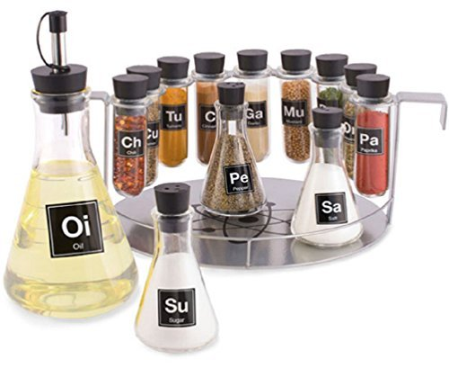 Chemists 14 Piece Spice Rack Set