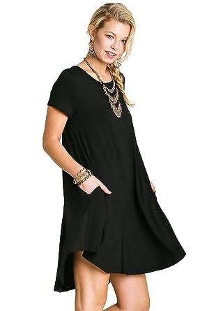 96c6076dd01 Umgee Bohemian Short Sleeve A-line Pocket Dress Reg   Plus Size at ...