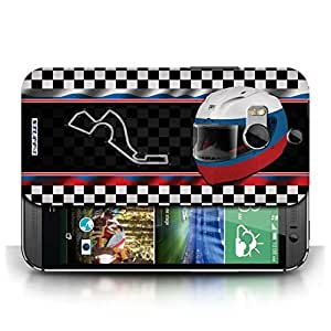 KOBALT? Protective Hard Back Phone Case / Cover for HTC One/1 M8 | Russia/Sochi Design | F1 Track Flag Collection
