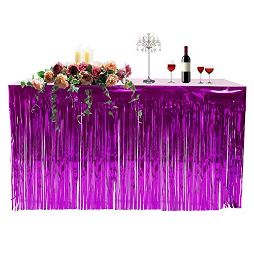 (Table Skirt,Cherry-Lee Thickened Hawaiian Party Decoration Fringed Table Skirt Celebration Table Skirt Curtain Holiday Supplies for Baby Shower Wedding and Birthday Winter Party)