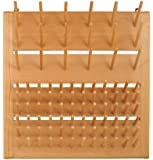 "Eisco CH0001C Wood Draining Rack, Wall Mountable - 90 Pins (72 - 3"" Pins, 18 - 5"" Pins)"