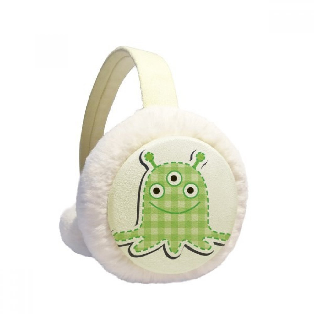 Universe And Alien Monster Winter Earmuffs Ear Warmers Faux Fur Foldable Plush Outdoor Gift