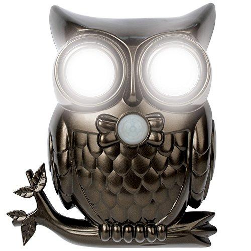 Super Bright LED Owl Motion Sensor Light Shines & Hoots To Announce Visitors by Jobar International