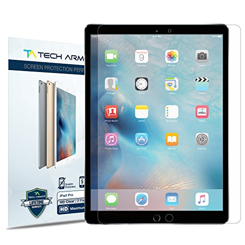 - Tech Armor High Definition HD-Clear Film Screen Protector (Not Glass) for iPad Pro 12.9