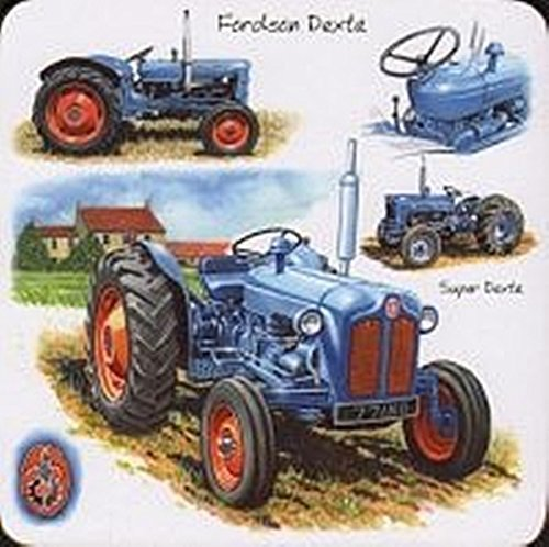 Coasters Set of 4 Classic Tractor Fordson Dexta by Little Snoring -  9491739